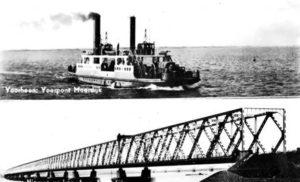Veerponten van Moerdijk en aanleg Moerdijkbruggen