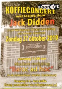 Koffieconcertmet lezing door Jack Didden @ Graanschuur achter Molen Zeldenrust