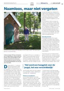 Artikel Leen Segeren in Vakblad Uitvaart over het Drenkelingen kerhof.